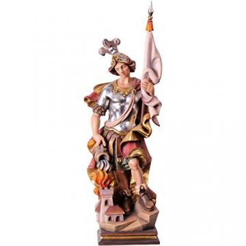 Heiliger Florian Holzfigur, geschnitzt handbemalt Südtirol 25 cm -